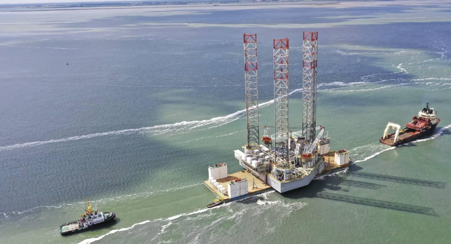 A new platform installed offshore Kribi