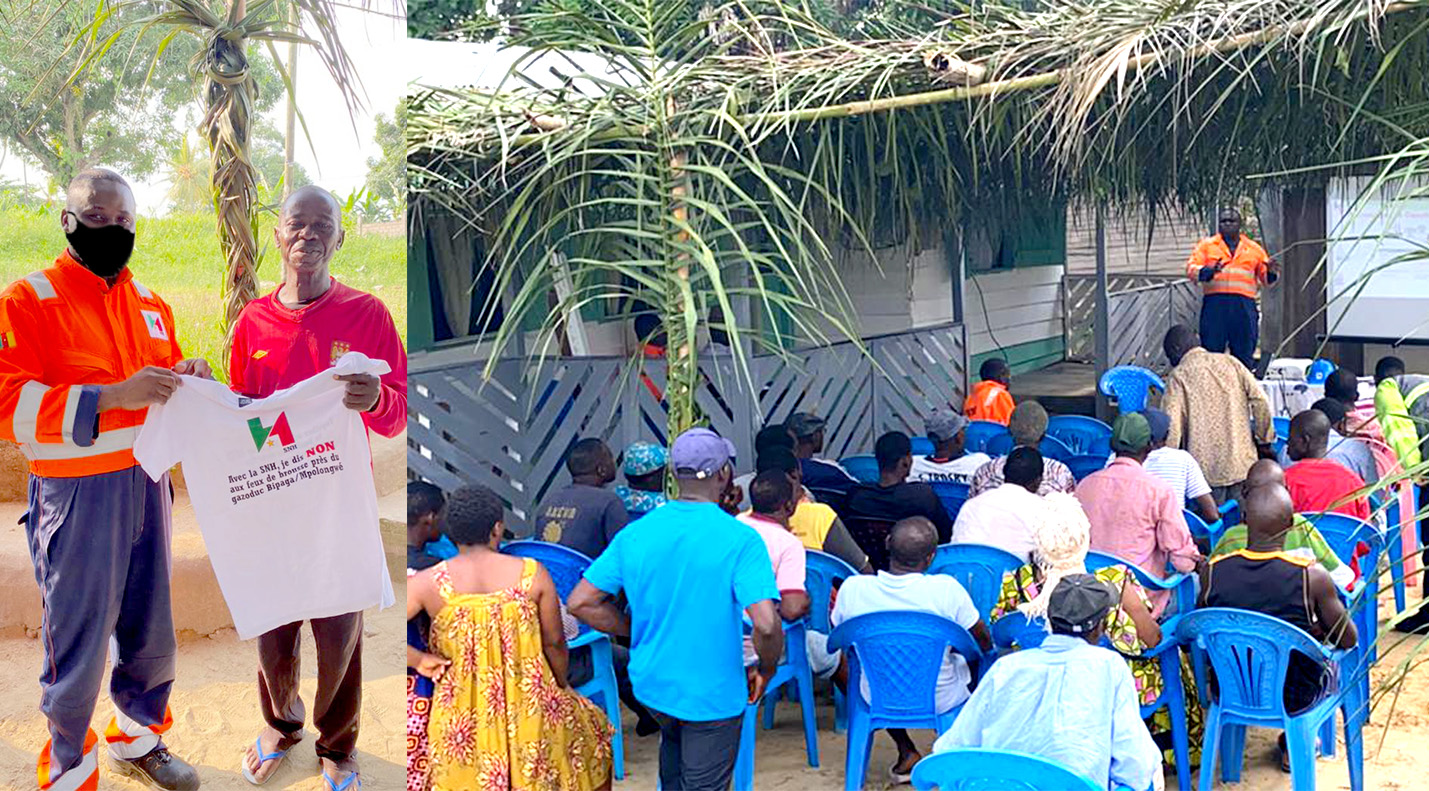 Villages along the Bipaga/Mpolongwe gas pipeline sensitised on the dangers of bush fires